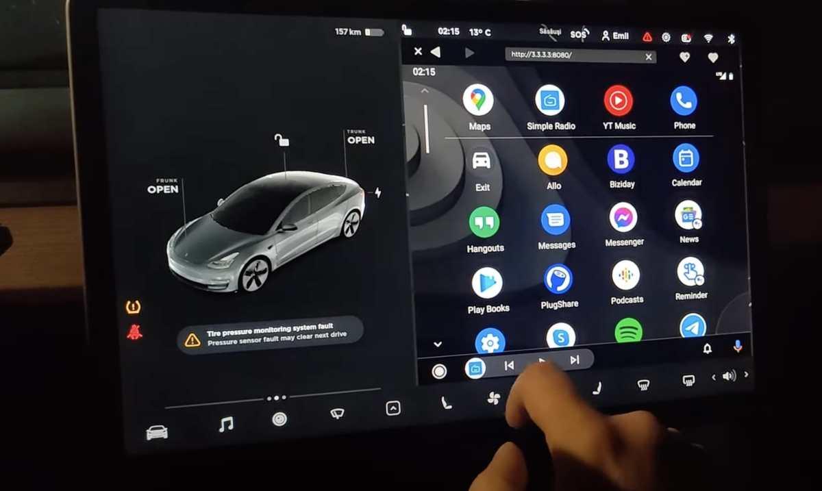 Tesla Android Auto Aawireless