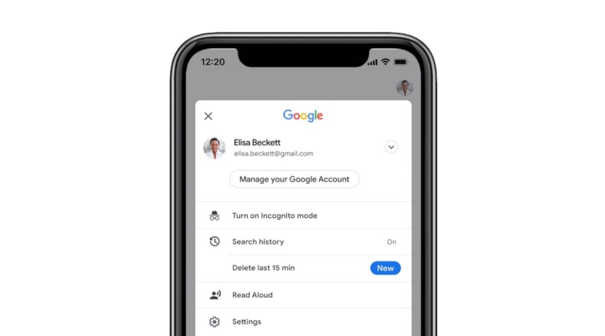 Google App 15 Minuten Taste Ios