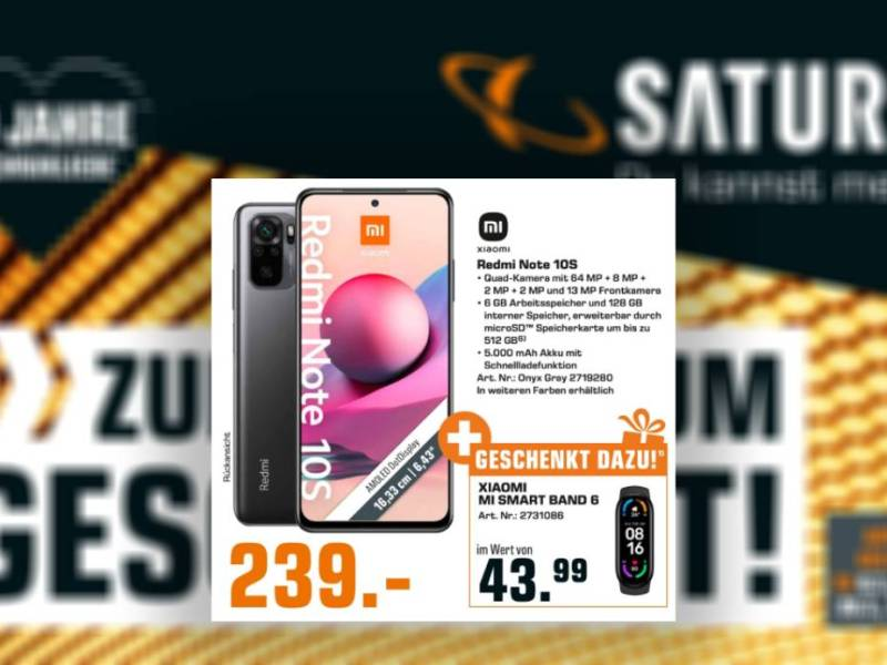 Saturn Redmi Note 10s Mi Band 6 Deal