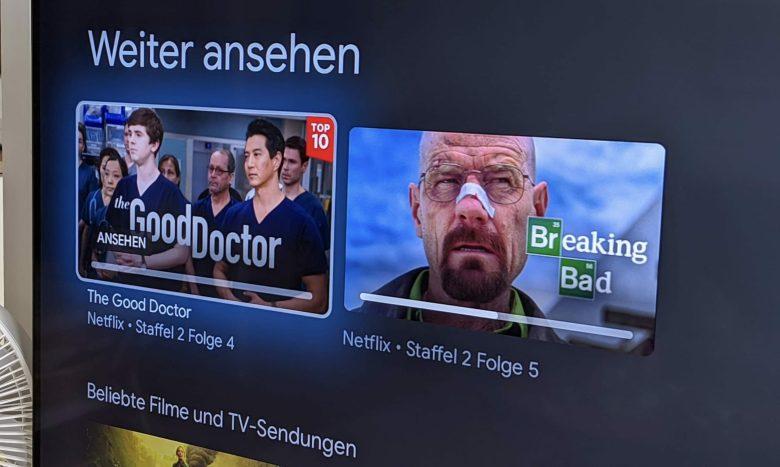 Chromecast Mit Google Tv Weiter Ansehen
