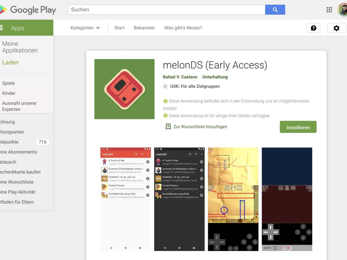 Melonds Play Store