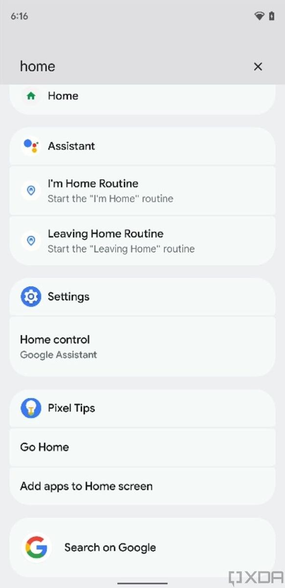 Pixel Launcher Universelle Suche Screenshot
