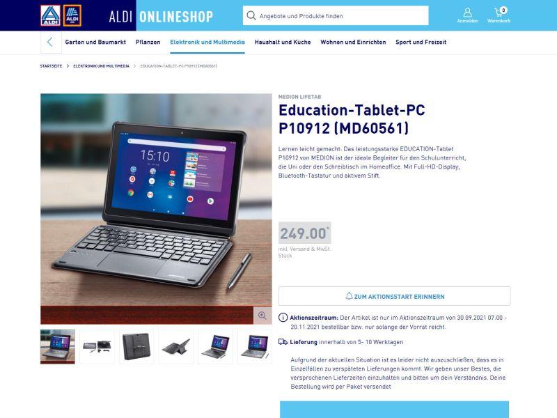 Aldi Medion Lifetab Tastatur Stift Angebot Header