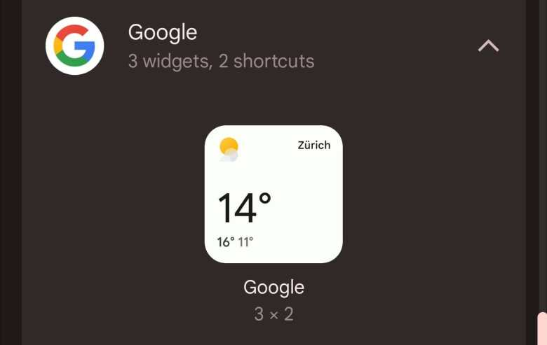 Google App Wetter Widget Android 12 Material You 1