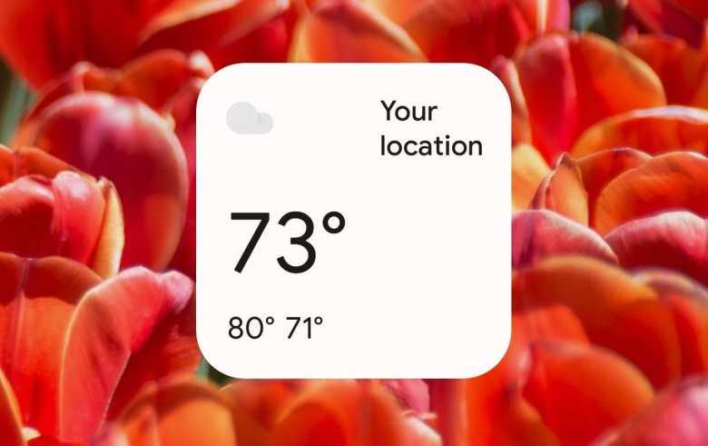 Aplicación de Google Wetter Widget Android 12 Material You 2
