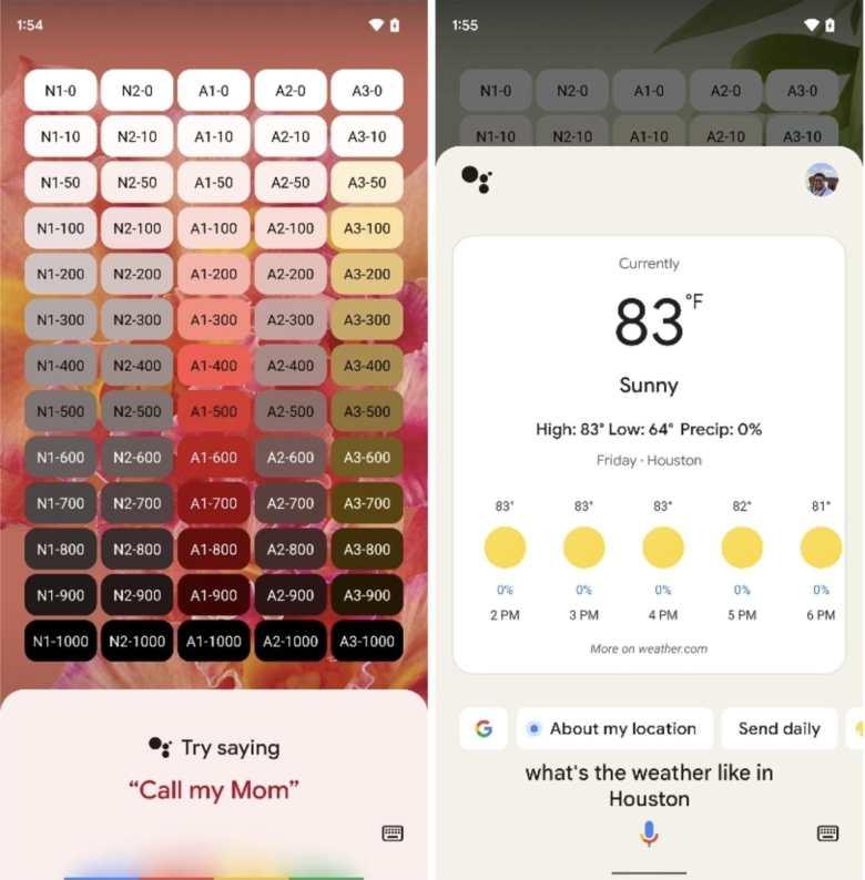 Google Assistant Material You Screenshots