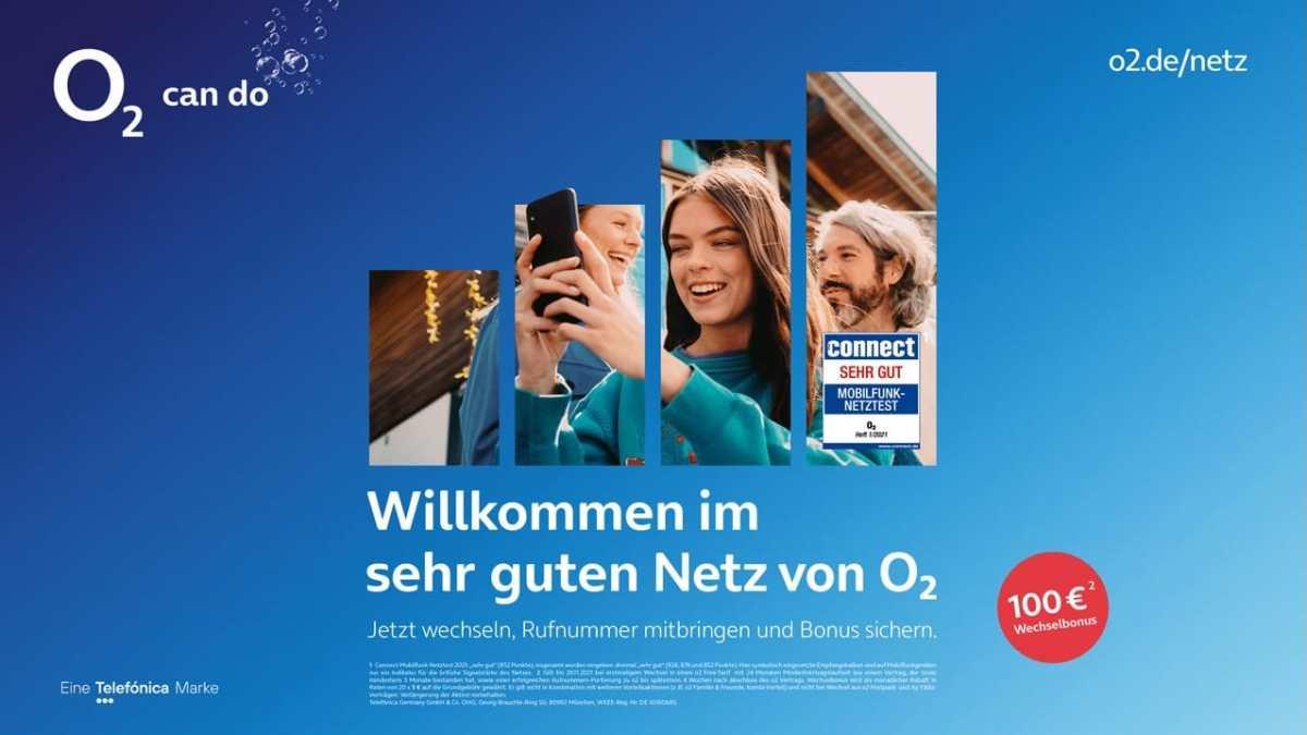 Wechselbonus 100 Euro O2 September 2021 Kampagne