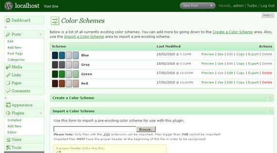 Easy Admin Color Schemes