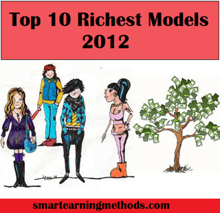 top 10 richest models in the world in 2012