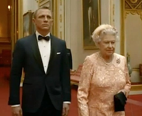 Daniel Craig as James Bond with The Queen in Olympics film