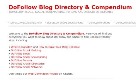 DoFollow Blog Directory