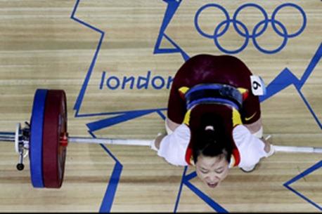 wang having difficulty in olympics 2012