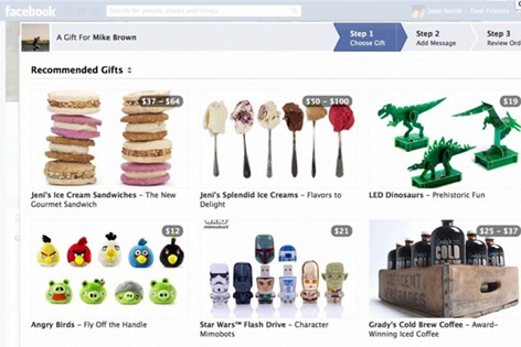 facebook gifts to send