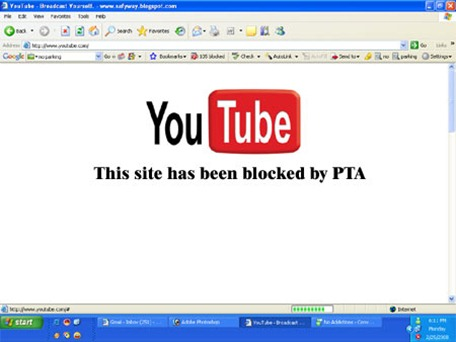 youTube blocked
