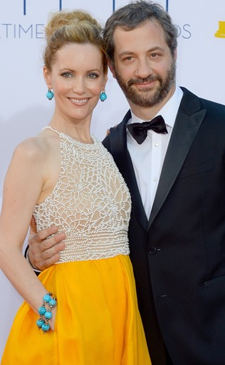 . Judd Apatow and Leslie Mann