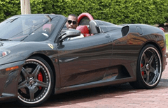 LeBron James drives F430 Spider