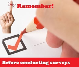 things to remember  while conducting online surveys