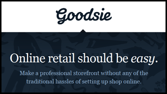 How to make your own storefront with Goodsie