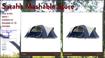Sarah's Mashable Store