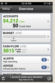 mint iphone app