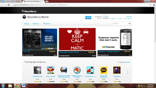 BlackBerry World platform to sell mobile apps on
