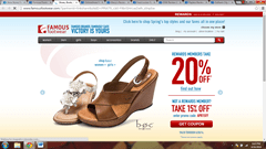 Famous Footwear website to buy footwear on