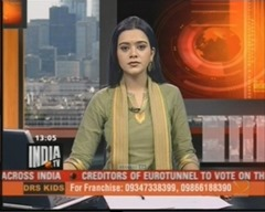 Surbhi Bhutani popular Indian Anchor