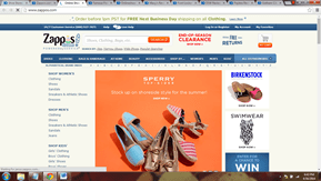 Zappos.com website to buy foot wear
