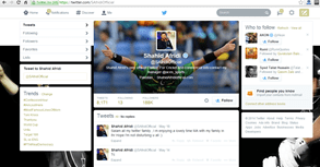 Shahid Afridi famous Pakistani social media icon