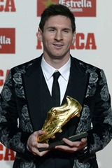 European Golden Shoe Award  interesting facts about Messi