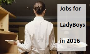 Jobs for ladyboys in 2016