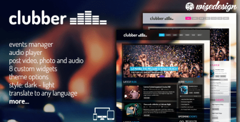 Clubber wordpress themes