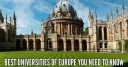 Top Ten Best Universities of Europe In 2016