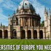 Top 10 Best Universities of Europe In 2017