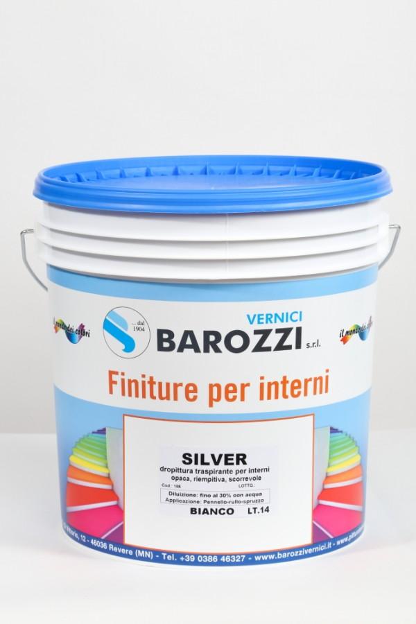Quanti tipi di pitture per interni ci sono in commercio? Silver Idropittura Traspirante Per Interni Opaca 14 L Barozzi