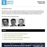Smarter Service Sponsoring Newsletter