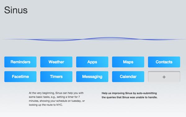 SINUS – Siri für den Desktop