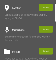 the skybell hd permissions are in line with its features its not a permission hungry app at all  [ 1080 x 1920 Pixel ]