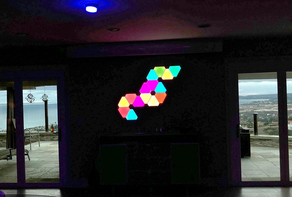 nice art for living room decor walls nanoleaf aurora – smart home color changing light panels ...