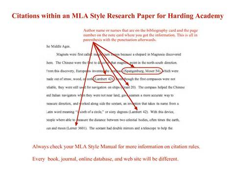 Citing An Essay Mla Involvement Paper Parental Research Custom