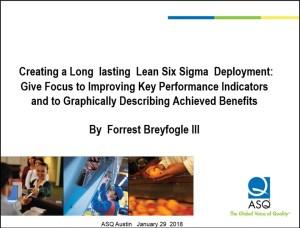 ASQ Austin Webinar Creating a Long-lasting Lean Six Sigma Deployment