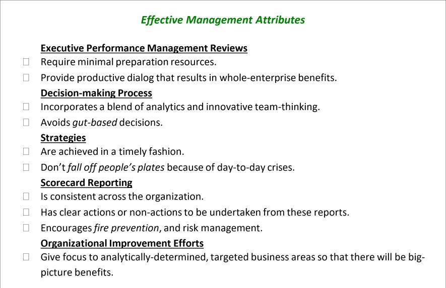 Effective Management Attributes