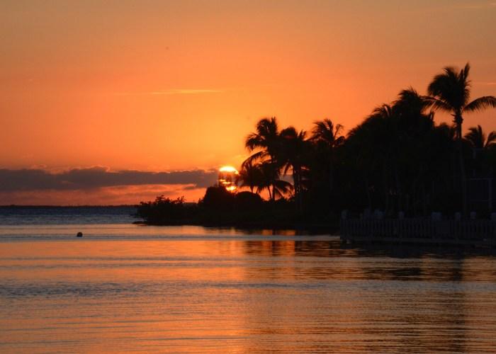 sunset in cayman islands