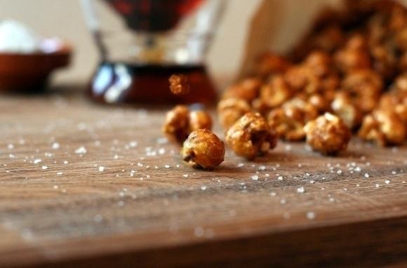 Sea-Salt Maple-Caramel Popcorn