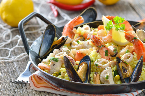 Paella is from which region of Spain?