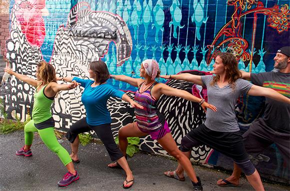 Downtown Yoga Tour, Asheville, North Carolina