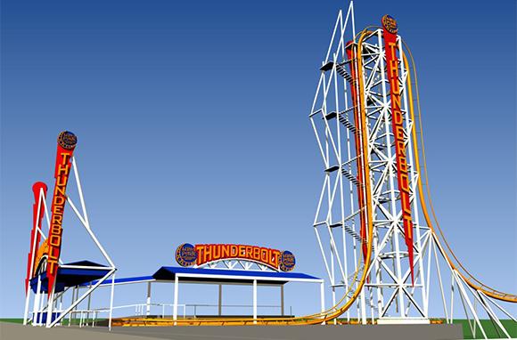 Thunderbolt, Luna Park at Coney Island, Brooklyn, New York