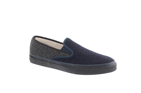 Sperry Top-Sider for J.Crew Tweed Slip-on Sneakers