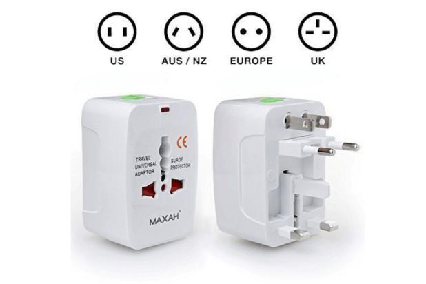 MAXAH travel universal plug adapter.