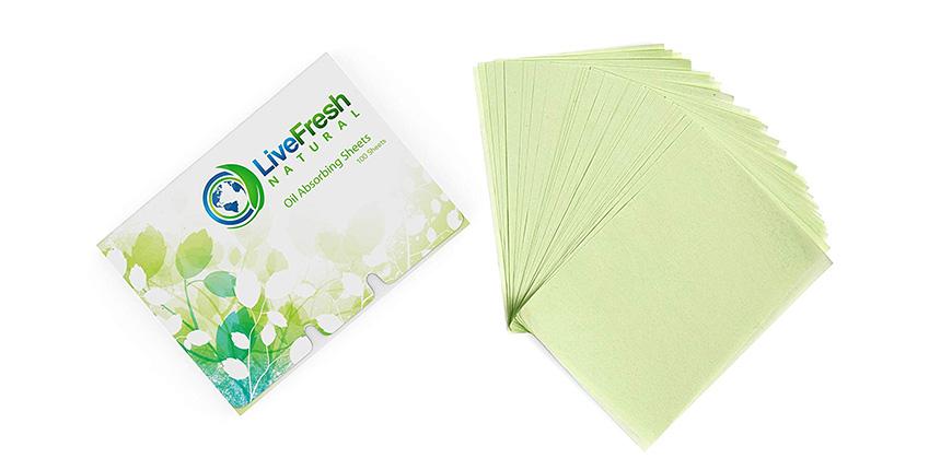 LiveFresh natural oil blotting paper